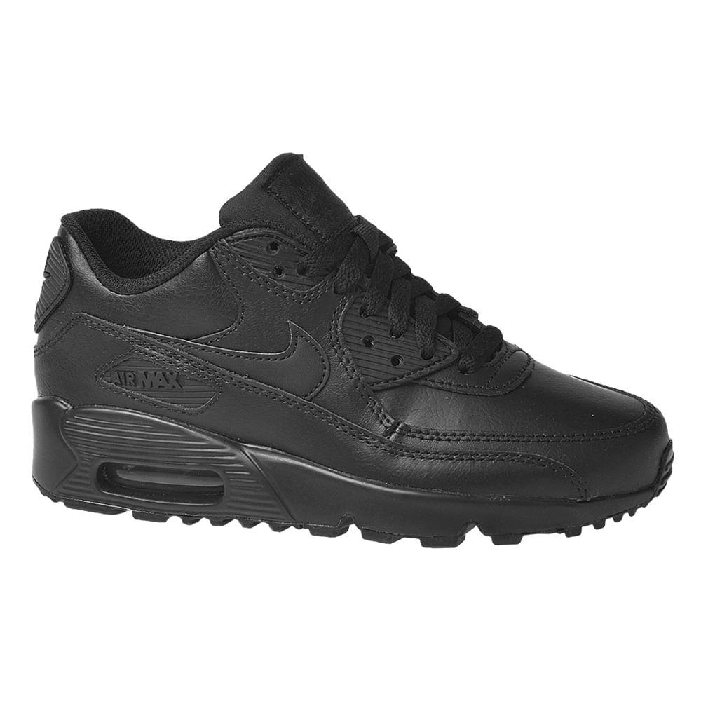 Tênis Nike Air Max 90 GS Leather Infantil!