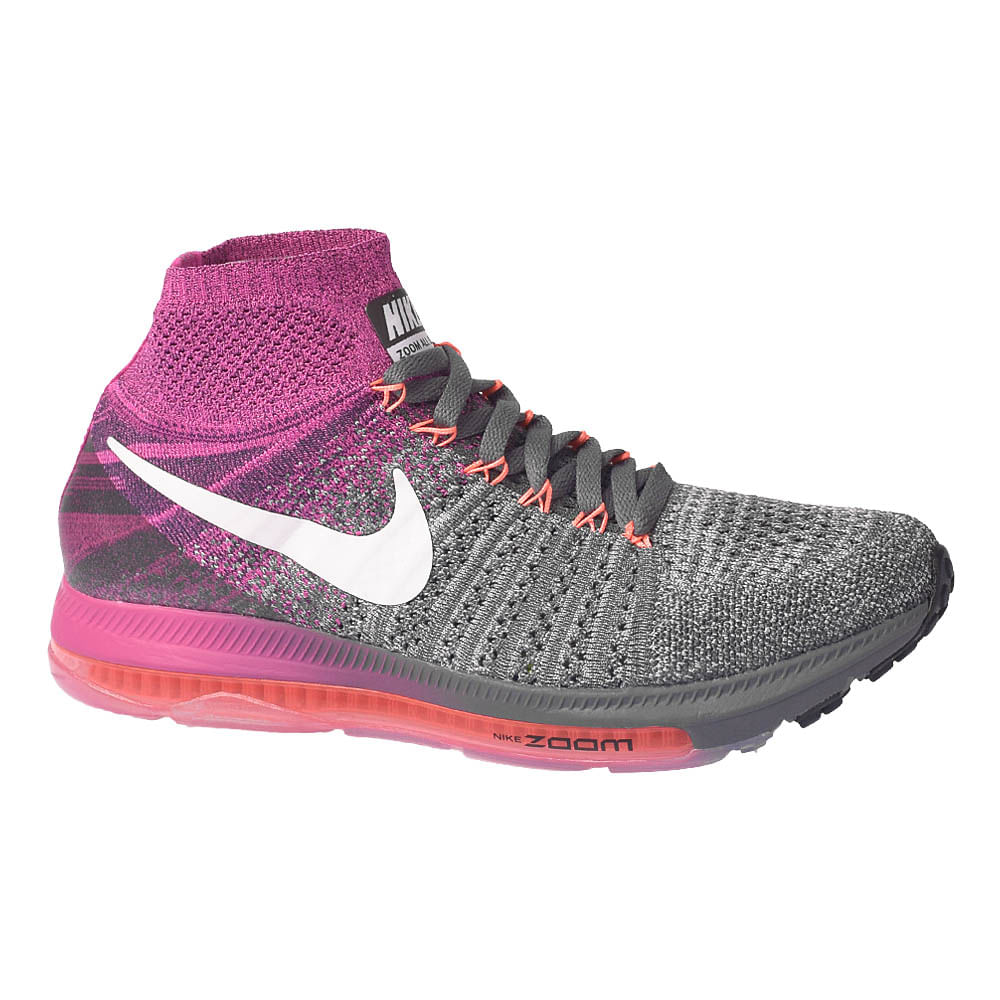 5f8837c238f Tênis Nike Zoom All Out Flyknit Cinza Rosa Feminino