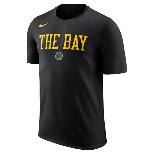 Camiseta-Nike-NBA-Golden-State-Warriors-Dry-Masculina-Preto