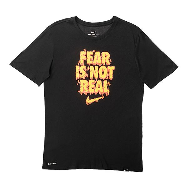 Camiseta-Nike-Dry-Kyrie-Fear-Is-Not-Masculina-Preto
