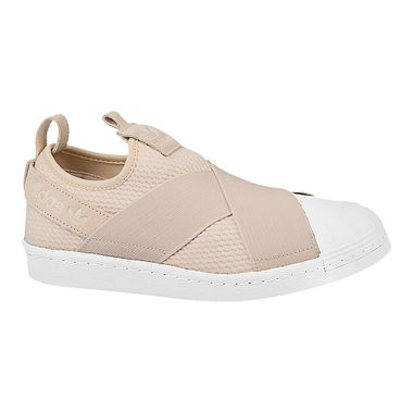 Tenis-adidas-Superstar-Slip-On-Feminino-Bege