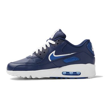 Tenis-Nike-Air-Max-90-Leather-GS-Infantil-Azul-2