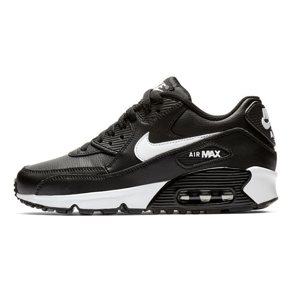 Tenis-Nike-Air-Max-90-Leather-GS-Infantil-Preto