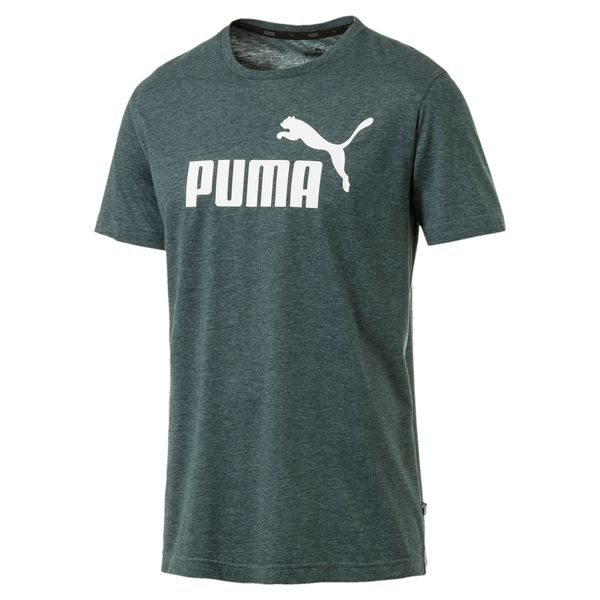 Camiseta-Puma-Ess--Heather-Masculina-Verde