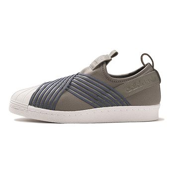 Tenis-adidas-Superstar-Slip-On-Feminino-Cinza