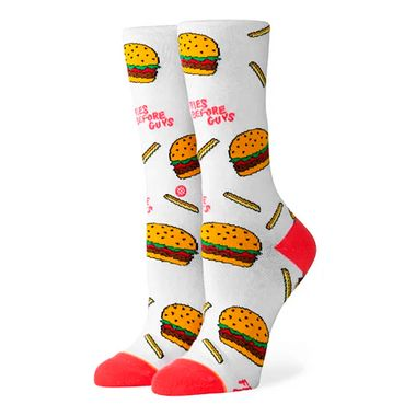 Meia-Stance-Fries-B4-Guys-Crew-Feminina-Multicolor