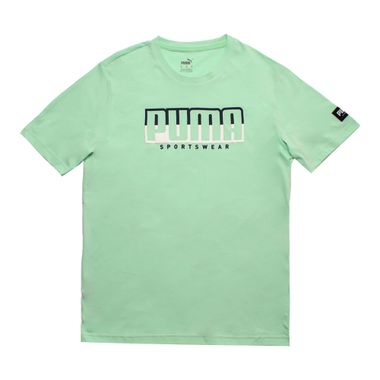 Camiseta-Puma-Athletics-Big-Logo-Masculina-Verde