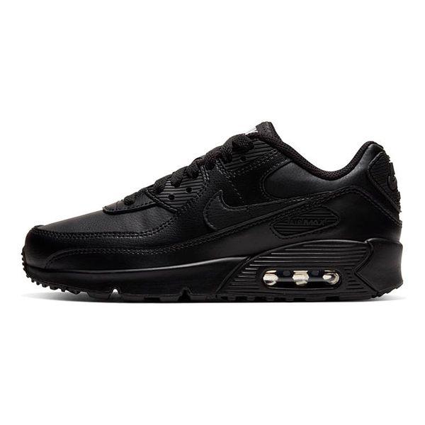 Tenis-Nike-Air-Max-90-Leather-GS-Infantil-Preto