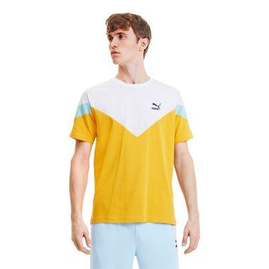 Camiseta-Puma-Iconic-MCS-Masculina-Amarela