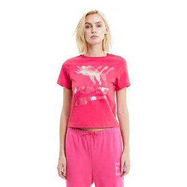 Camiseta-Puma-Evide-Feminina-Rosa