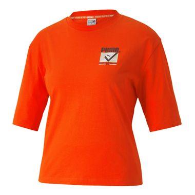 Camiseta-Puma-TFS-Graphic-Feminina-Laranja