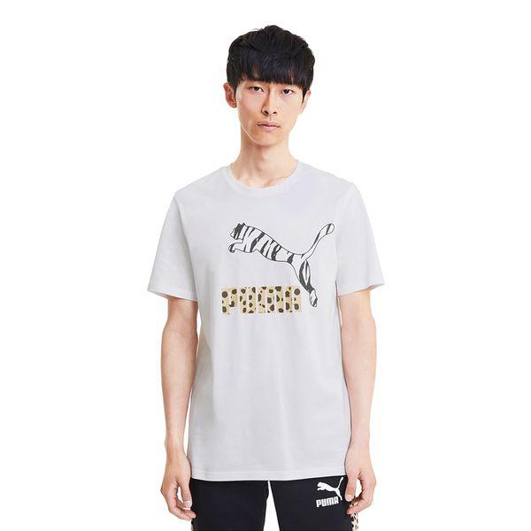 Camiseta-Puma-Classics-Logo-Masculina-Branca
