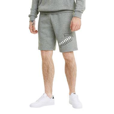 Shorts-Pumabig-Logo-Masculino-Cinza