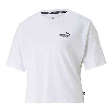 Cropped-Puma-Ess-Logo-Feminino-Branco