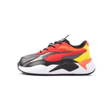 Tenis-Puma-Rs-X³-Neon-Flamme-TD-Infantil-Multicolor