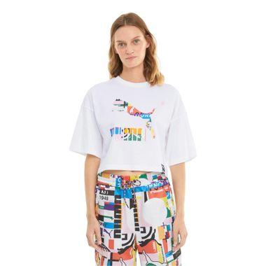 Camiseta-Puma-Graphic-Feminina-Branca