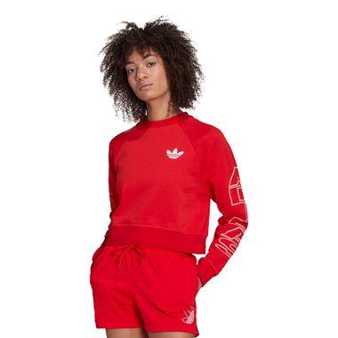 Blusa-Cropped-adidas-Letter-Feminina-Vermelha