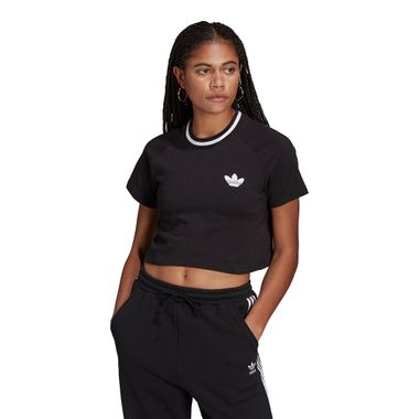 Camiseta-adidas-Cropped-Top-Rib-Feminina-Preta