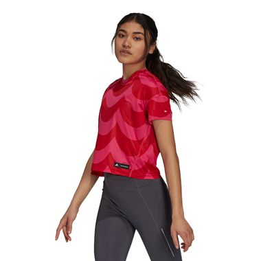 Camiseta-adidas-Marimekko-Feminina-Vermelha