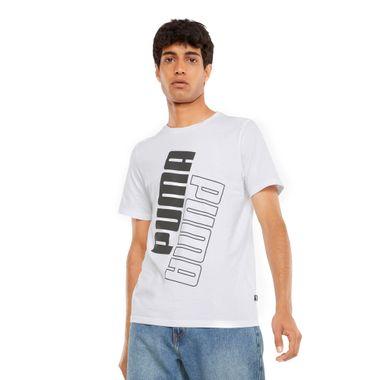 Camiseta-Puma-Power-Logo-Masculina-Branco