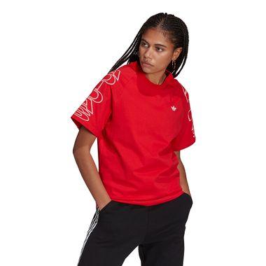 Camiseta-adidas-Loose-Feminina-Vermelha