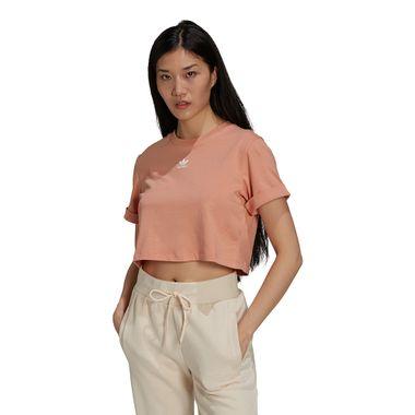 Camiseta-Cropped-adidas-Feminina-Bege