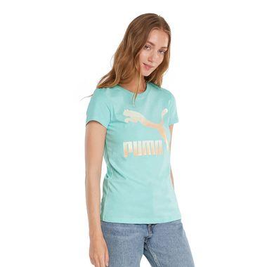 Camiseta-Puma-Classic-Logo-Feminina-Azul