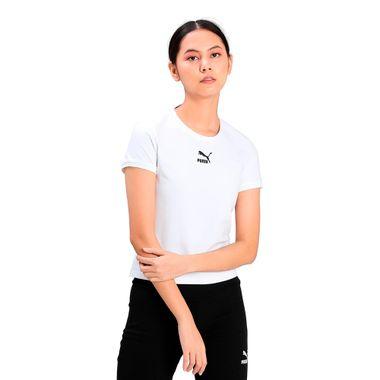 Camiseta-Puma-Classic-Fitted-Feminina-Branca