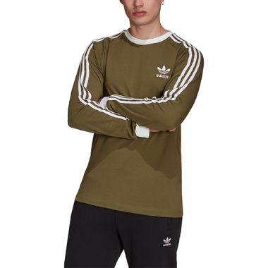 Camiseta-adidas-3-Stripes-Ls-Mascilina-Verde